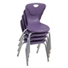 "14"" Contour Chair - Eggplant, set of 4"