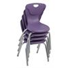 """14"""" Contour Chair - Eggplant, set of 4"""