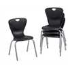 "18"" Contour Chair - Black, set of 4"