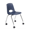 "18"" Mobile Chair-Navy, set of 2"