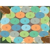 Robins Eggs Alphabet Seating Rug, 9'x12' Rect