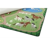 Count the Farm Activity Rug, 6'x9' Rect