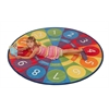 Tick-Tock Clock Activity Rug, 6' Round