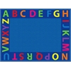 A-Z Circle Time Seating Rug, 9'x12' Rect
