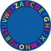 A-Z Circle Time Seating Rug, 12' Round