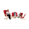 ECR4Kids Bentwood 5-PieceComfort Furniture Set