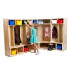 Birch Coat Lockers w/Bench Set-2, 5 & Corner