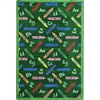 "Playful Patterns - Children's Area Rugs Crayons, 10'9"" x 13'2"", Green"