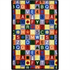 "Joy Carpets Playful Patterns - Children's Area Rugs Edu-Squares, 3'10"" x 5'4"", Multicolored"