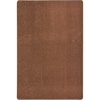 Joy Carpets Kid Essentials - Misc Sold Color Area Rugs Endurance, 6' x 9', Brown
