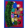 "Joy Carpets Kid Essentials - Early Childhood Welcome To Our Library, 33"" x 43"", Multicolored"