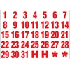 Magnetic DATE HEADINGS WHITE ON RED