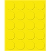 "Magna Visual 3/4"" yellow magnetic circles 20/pk"