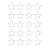 "3/4"" white magnetic stars 20/pk"