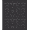 "3/4"" black magnetic stars 20/pk"