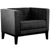 Roxbury Arm Chair In Charcoal Fabric