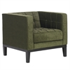 ARMEN LIVING Roxbury Arm Chair In Tufted Green Fabric