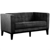 ARMEN LIVING Roxbury Loveseat In Charcoal Fabric