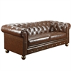 Winston Vintage Mocha Bonded Leather Sofa