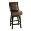 "ARMEN LIVING Wayne Swivel Barstool In Brown Bonded Leather 30"" seat height"