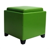 ARMEN LIVING Rainbow Contemporary Storage Ottoman With Tray in Gray Bonded Leather