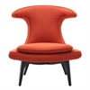 Aria Chair in Black Wood finish with Orange Fabric upholstery