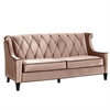 Barrister Sofa In Caramel Velvet