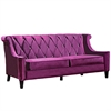 ARMEN LIVING Barrister Sofa In Purple Velvet With Crystal Buttons
