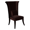 ARMEN LIVING Mad Hatter Dining Chair In Brown Rich Velvet