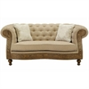 Barstow Loveseat In Sand Fabric