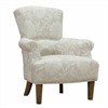 ARMEN LIVING Barstow Accent Chair In Cream Flower Fabric