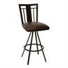 "Cleo 26"" Transitional Barstool In Coffee and Auburn Bay Metal"