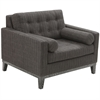 ARMEN LIVING Centennial Chair Charcoal Chenille Fabric