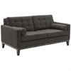 ARMEN LIVING Centennial Loveseat Charcoal Chenille Fabric