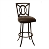 "ARMEN LIVING Drake 26"" Transitional Barstool In Coffee  and Auburn Bay Metal"
