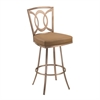 "ARMEN LIVING Drake 26"" Contemporary Swivel Barstool In Camel and Gold Finish"