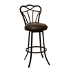 "ARMEN LIVING Galvin 26"" Transitional Barstool In Coffee  and Auburn Bay Metal"