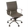 ARMEN LIVING Hannah Contemporary Office Chair In Gray  and Chrome