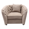 Armen Living Rhianna TransitionalChair in Camel Tufted Chair