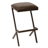 "Sasha 26"" Modern Barstool In Coffee and Auburn Bay Metal"