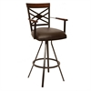 "ARMEN LIVING Zoe 30"" Transitional Arm Barstool In Coffee  and Auburn Bay Metal"