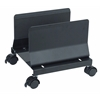HEAVE DUTY METAL MOBILE CPU STAND - BLACK