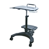 Aidata Sit/Stand Mobile Laptop Workstation w/Shelf