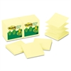 Post-it Recycled Pop-up Notes, 3 x 3, Canary Yellow, 100-Sheet, 12/Pack