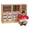 E-Z Glide Sectional Cubbie-Tray Mobile Unit - with Colored Trays