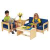 Living Room 4 Piece Set - Blue