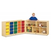 Jonti-Craft 20 Cubbie-Tray Fold-n-Lock - with Colored Trays