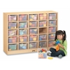 25 Cubbie-Tray Mobile Storage - with Clear Trays