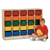 Jonti-Craft E-Z Glide 25 Cubbie-Tray Mobile Storage - with Clear Trays