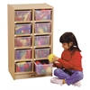 Jonti-Craft 10 Cubbie-Tray Mobile Unit - with Clear Trays